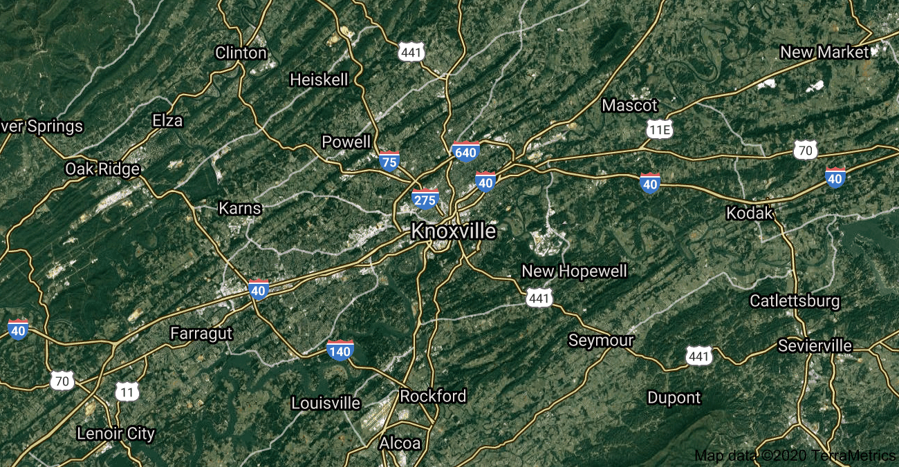 Knoxville Map